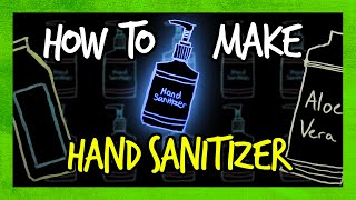 how To Make Your Own Hand Sanitizer in 1 Minute (DIY)