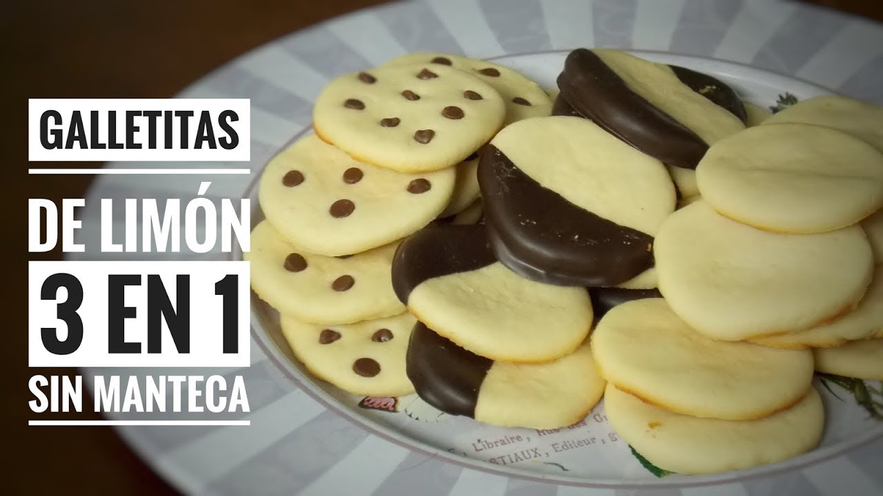 Como Hacer Galletas De Limón Sin Manteca 3 En 1 Receta Fácil Youtube