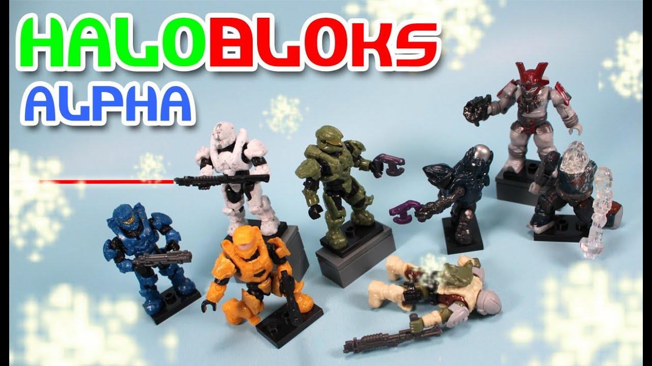 Halo Mega Bloks Alpha Series 10 Micro Action Figures Blind