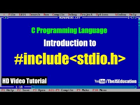 """What is """"#include stdio.h"""" in C Programming Language 