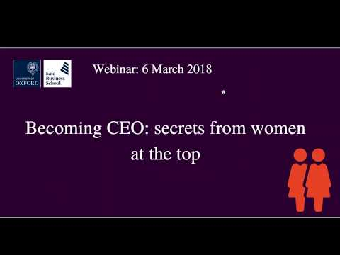 Becoming CEO: Secrets from women at the top