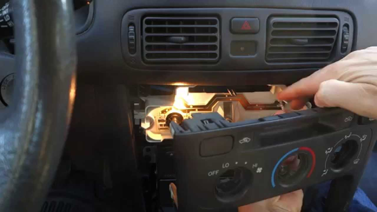 For Of A 2001 Toyota Solara Fuse Box Diagram How To Replace Fan And Temp Dashboard Bulbs Toyota Cars