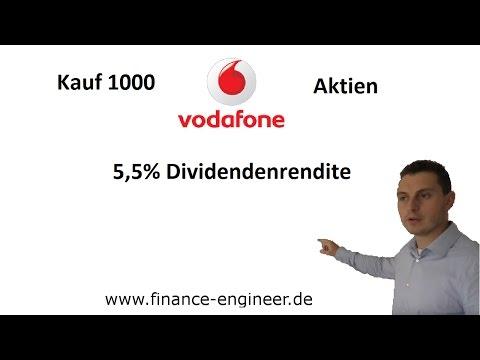 Kauf 1000 Vodafone Group Aktien 5,5% Dividendenrendite