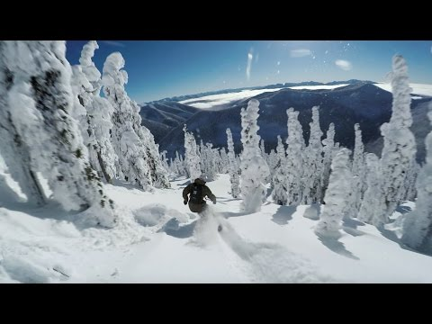 Mikkel Bang Rides Craig Kelly's Board  Baldface Lodge  GoPro