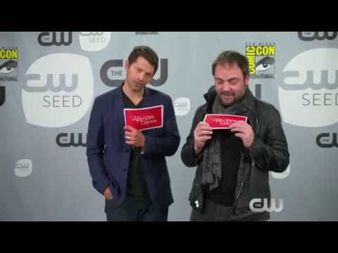 Misha Collins and Mark Sheppard answer the questions at ComicCon