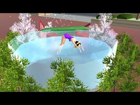 สอนทำสระว่ายน้ำส่วนตัว สนุกดี55 sakura school simulator| PormyCH  พี่ปอ🌸