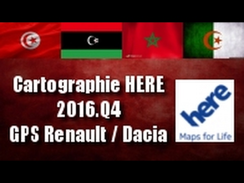mettre jour cartographie here 2016 q4 gps renault dacia. Black Bedroom Furniture Sets. Home Design Ideas