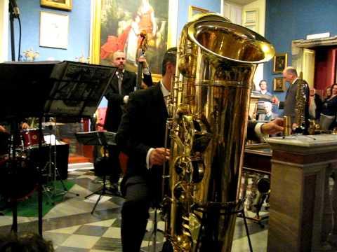 Attilio Berni plays J'Elle Stainer sub-contrabass sax and Eppelsheim soprillo at Napoleonic Museum