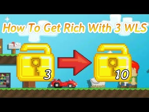How To Get Rich With 3 WLS   Growtopia