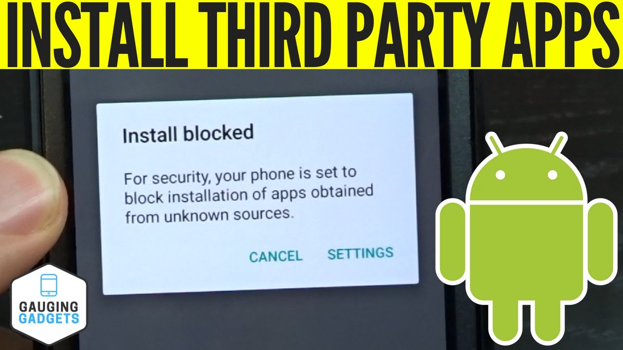 How To Enable Third Party App Installing On Android - Unknown Sources  Tutorial