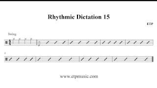 Rhythmic Dictation Practice - Exercise 15