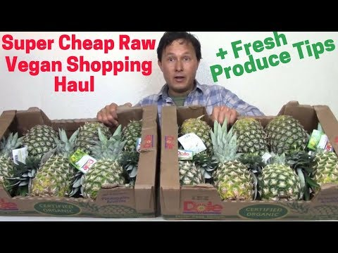 Super Cheap Raw Vegan Shopping Haul + Fresh Produce Tips