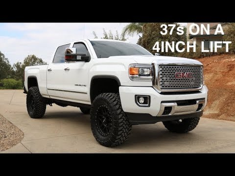 How i got 37s to fit on a 4 inch lift - YouTube