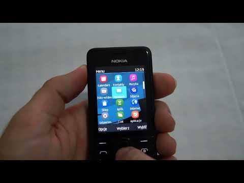 Nokia 301 - appearance, menu - part 1