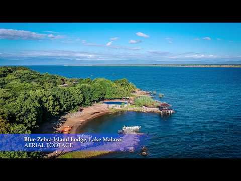 Blue Zebra Island Lodge, Lake Malawi - aerial footage
