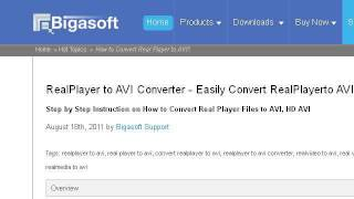How-To Convert Real Player To AVI
