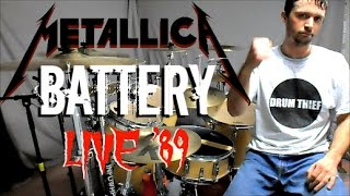 metallica battery live shit seattle 89 drum cover