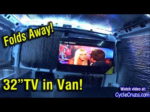 """van-build---32""""-foldaway-tv-and-viper-2-way-security-system-installed"""