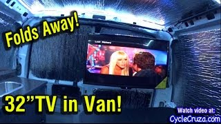 "Van Build - 32"" FoldAway TV and Viper 2-Way Security System Installed"