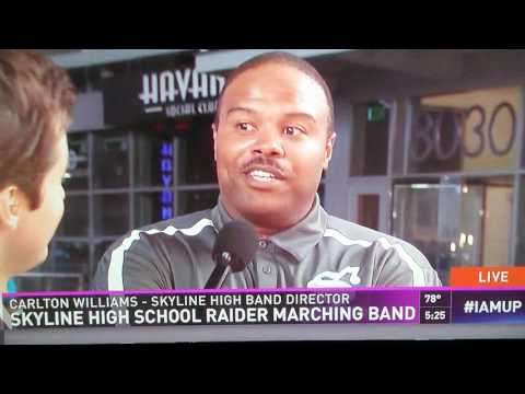 SKYLINE HIGH SCHOOL BAND ON CHANNEL 8 NEWS