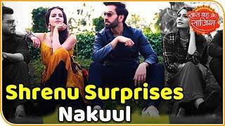 When Shrenu Parikh surprises Nakuul Mehta on sets of the show