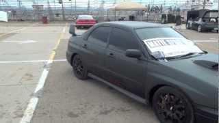 Plastidipped Subaru Wrx sti Flat black spray wrap