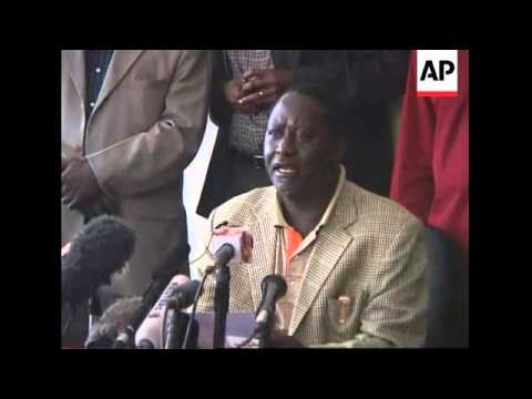 Odinga calls on president to concede as violence continues