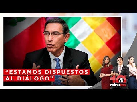 """Vizcarra sobre Tía María: """"Estamos dispuestos al diálogo"""" - 10 minutos Edición Matinal"""