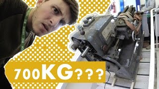 MOVING A 700KG LATHE (MACHINE) DOWNSTAIRS!!! (GoPro)
