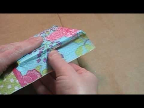 Use Decorative Paper Napkins To Make Tile Coasters