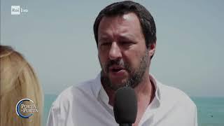 Salvini contro le norme europee sui clandestini - Porta a porta 05/06/2018