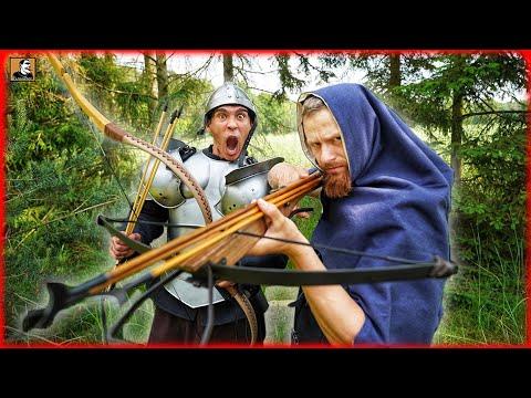MITTELALTER ARMBRUST vs BOGEN mit Fritz Meinecke | Historische Waffen im TEST | Survival Mattin