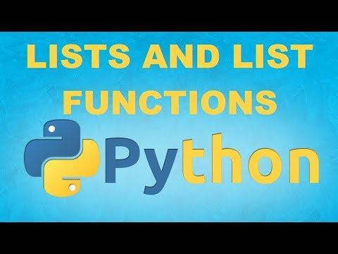 Lists and List functions in Python 3