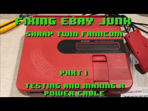 Fixing eBay Junk - Sharp Twin Famicom - Part 1 - Testing and making a power cable