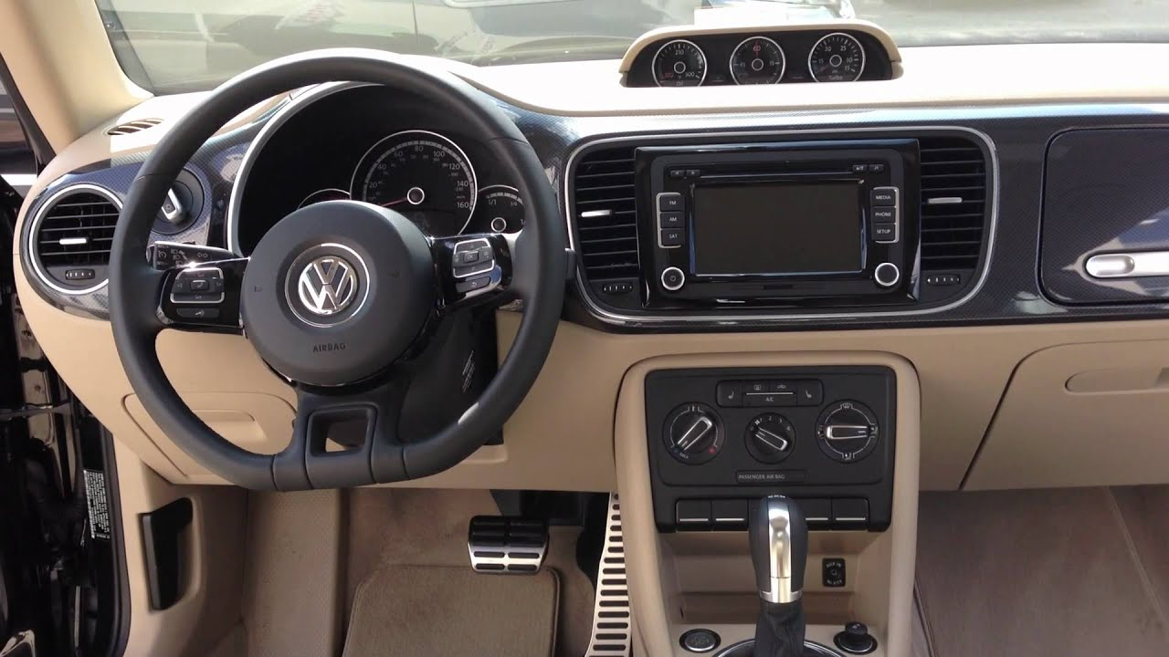 2013 beetle turbo with beige interior youtube - Interior images ...