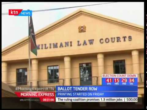 Ballot Tender Row : NASA is seeking to have the ballot printing tender awarded to a Dubai based firm