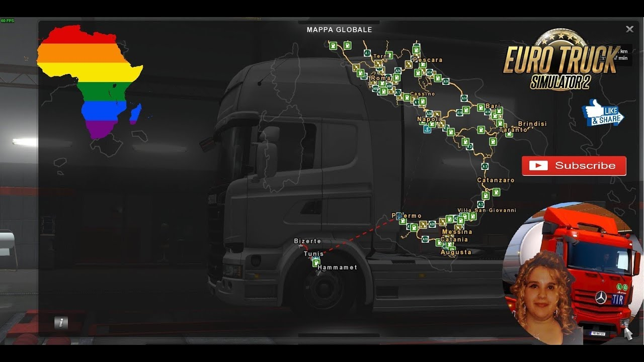 Euro Truck Simulator 2 (1.31) Map of Africa demo v1.0 + DLC's