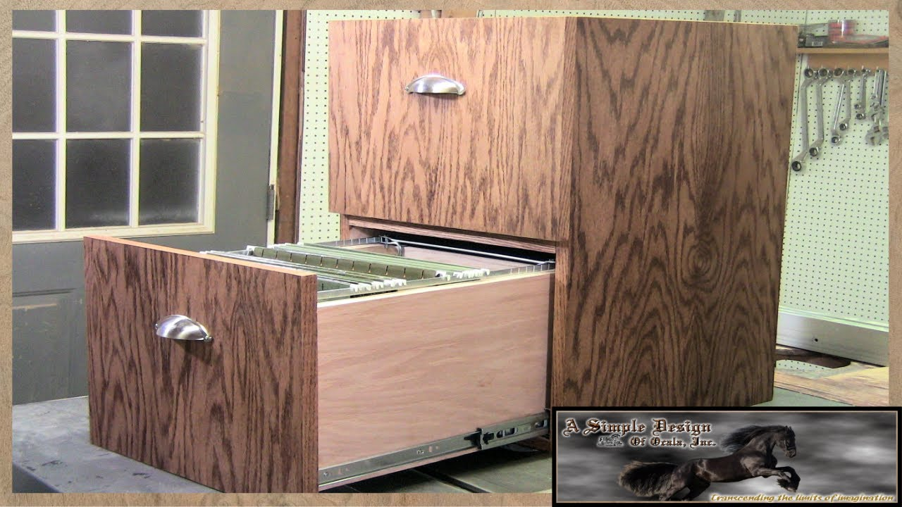 Make a simple 2 Drawer Filing Cabinet  YouTube