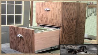 Make a simple 2 Drawer Filing Cabinet