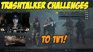 CoD Modern Warfare - Trash Talker Challenges Me To 1v1! [Gunfight]