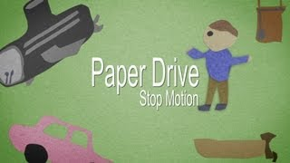 Paper Drive - Stop Motion Paper Cut Outs - Jake Weber