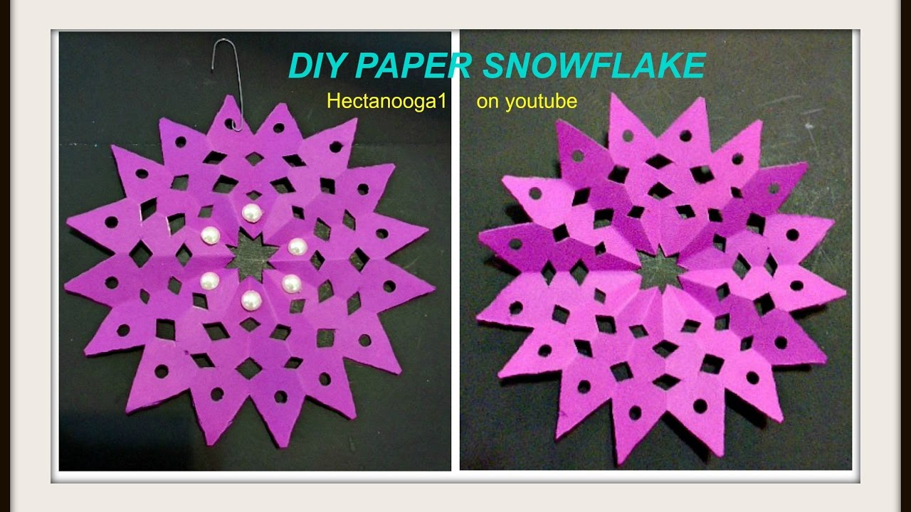 Hot pink christmas decorations - Diy Fuschia Snowflake Diy Paper Ornaments Hot Pink Snowflake Christmas Decorations