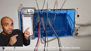 How to Install Two Light Switches from One Power Source (line)