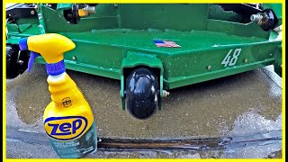 Cleaning A Greasy, Oily, Dirty Mower & How I Broke My Mower (Featuring Zep Fast 505 Degreaser)