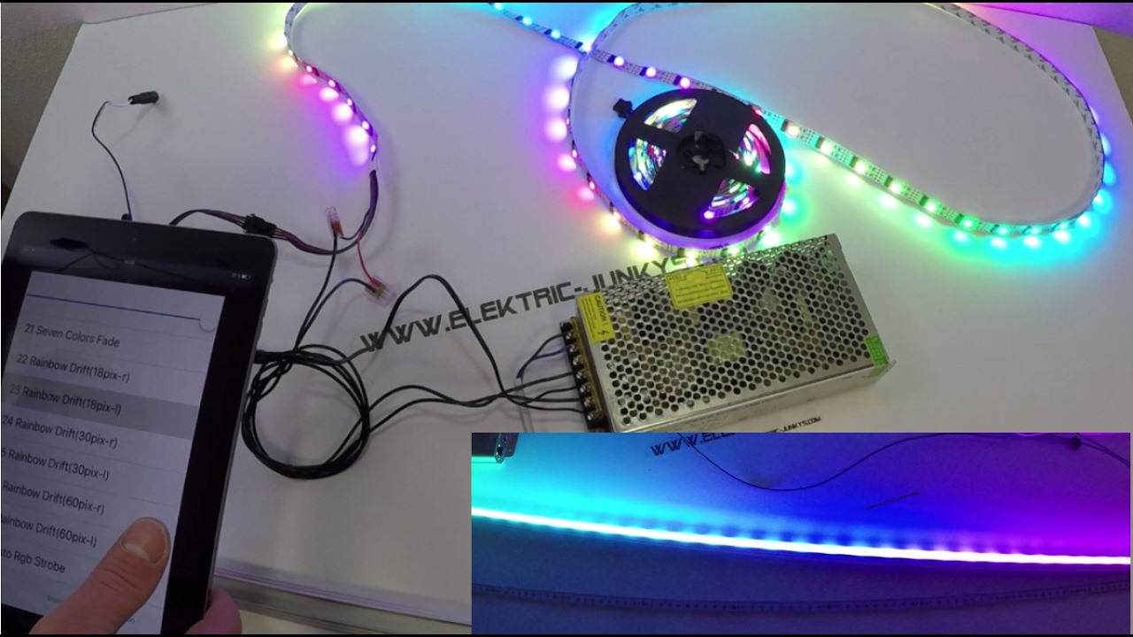 Led Strip Light Dmx Controller How To Install Dreamcolor Wifi Controlled Dmx Digital Led Strip Instalación Del Led
