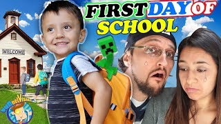 SHAWN'S FIRST DAY OF SCHOOL!  Dad Not Handling it So Well! (FV Family Vlog)