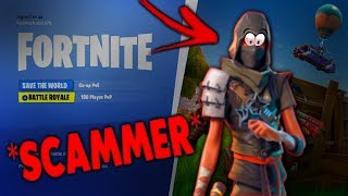FORTNITE SCAMMER GETS SCAMMED! Le Pt2