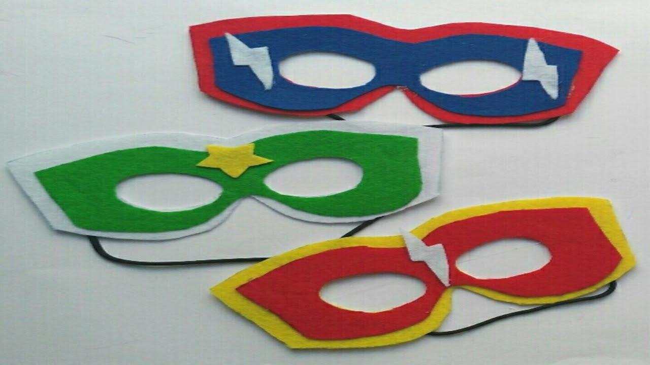 Antifaz o mascara de superheroes para carnavales o fiesta infantil ...