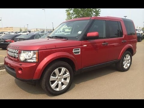 Pre Owned Red 2013 Land Rover Lr4 4wd 4dr V8 Lux Package