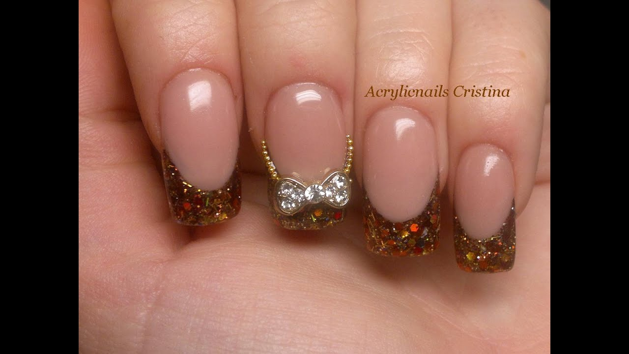 U as acr licas francesa en glitter con tips youtube - Imagenes unas de gel ...